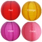 "8"" 4 Colors Even Ribbing Nylon Lantern(12 pieces)"