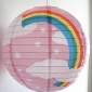 "16"" Pink Rainbow Paper Lanterns wholesale (150 of case)"