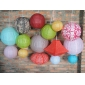 Paper lanterns designed set 15pcs