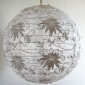 "12""Hanging Floral Lace Fabric Lanterns"