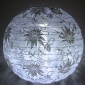 "20""Hanging Floral Lace Fabric Lanterns"