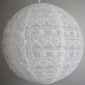 "8"" Ivory Heart Lace Fabric Lantern"