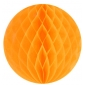 "8"" Orange Paper Honeycomb Lanterns"