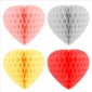 "8"" Paper Honeycomb Heart-Wholesale(150 of case)"