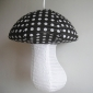 Polka Small Dot Black Mushroom Paper Lanterns