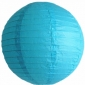 16 Inch Even Ribbing Baby blue Paper Lanterns
