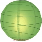 20 Inch Uneven Ribbing Grass Green Paper Lanterns