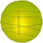 20 Inch Uneven Ribbing Chartreuse Paper Lanterns