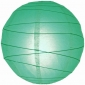 20 Inch Uneven Ribbing Teal Paper Lanterns