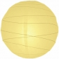 20 Inch Uneven Ribbing Light Yellow Paper Lanterns