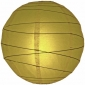 24 Inch Crisscross Ribbing Pear Paper Lanterns