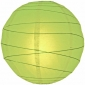 24 Inch Crisscross Ribbing Light Lime Paper Lanterns