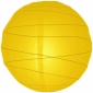 24 Inch Crisscross Ribbing Yellow Paper Lanterns