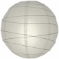 24 Inch Crisscross Ribbing Dove Paper Lanterns