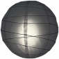 18 Inch Uneven Ribbing Black Paper Lanterns