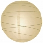 6 Inch Uneven Ribbing Ivory Paper Lanterns