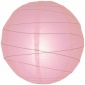 14 Inch Uneven ribbing Pink paper lanterns