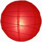 10 Inch Uneven Ribbing Red Paper Lanterns