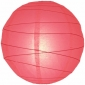 10 Inch Uneven Ribbing Coral Paper Lanterns
