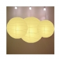 3 pack Light yellow paper lanterns wholesale (50pks of case)