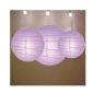 3 pack Lavender paper lanterns wholesale (50pks of case)