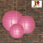 3 pack Fuchsia paper lanterns wholesale(50pks of case)
