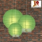 3 pack grass green paper lanterns wholesale(50pks of case)