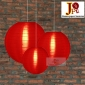 3 Pack Red Nylom Lanterns Cluster