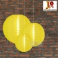 3 Pack Yellow Nylom Lanterns Cluster