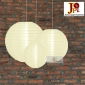 3 Pack Light Yellow Nylom Lanterns Cluster