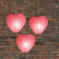 Heart Paper Lantern-Coral 3 pack cluster