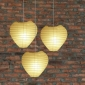 Heart Paper Lantern-Light Yellow 3 pack cluster