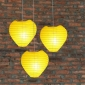 Heart Paper Lantern-Yellow 3 pack cluster