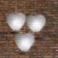 Heart Paper Lanterns-White 3pack cluster