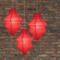 Red Beehive Paper Lantern-3 pack