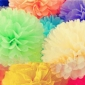 "10"" Tissue Paper Pom Poms Ball(4 pack)"