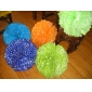"18"" White Dot Color Pom Poms wholesale-(360 of case)"