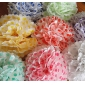"14"" Color Dot white Pom Poms wholesale-(360 of case)"