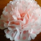 "12"" Pink Dot Tissue Paper Pom Poms Ball -(4 pieces)"