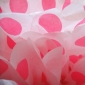 "12"" Fuchsia Dot Tissue Paper Pom Poms Ball -(4 pieces)"