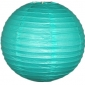 8 Inch Even Ribbing Mint Green Paper Lanterns