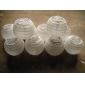 3.5 Inch Even Ribbing Ivory Paper Lanterns( 10 of pack)