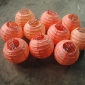 3.5 Inch Even Ribbing Peach Paper Lanterns(10 of pack)