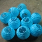 3.5 Inch Even Ribbing Water Blue Paper Lanterns(10 of pack)
