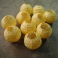 3.5 Inch Even Ribbing Squash Paper Lanterns(10 of Pack)