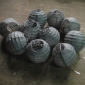3.5 Inch Even Ribbing Charcoal-grey Paper Lanterns(10 of pack)