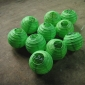 3.5 Inch Even Ribbing Grass Green Paper Lanterns(10 of pack)