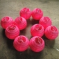 3.5 Inch Even Ribbing Fuchsia Paper Lanterns(10 of Pack)