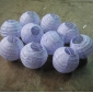 3.5 Inch Even Ribbing Lavender Paper Lanterns( 10 of pack)