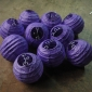 3.5 Inch Even Ribbing Purple Paper Lanterns( 10 of pack)